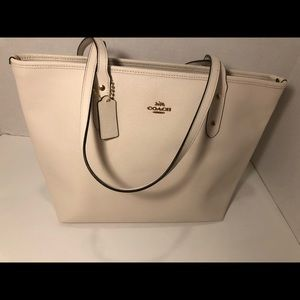 Brand New White Coach Tote Bag